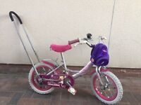 Girls Raleigh Molly bike with balance buddy handle