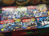 5 Brand new Lego sets, 4 are Ninjago £70 B44