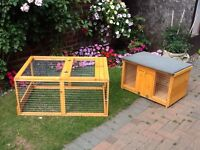 Guinea pig or small rabbit run and hutch