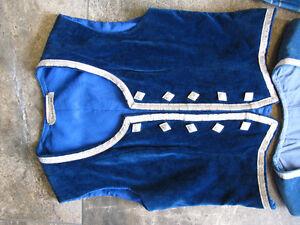 One  Blue Highland Dance Vest