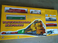 Coca cola thunder bolt express HO train set. New/old in box.