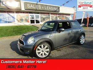 2008 MINI Cooper Hardtop S  LEATHER/CLOTH, AUTO, POWER GROUP!