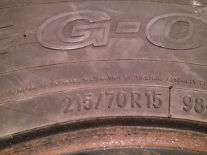 Winter tires 215/70/R15