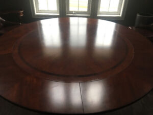 72 inch round dining table with 6 chairs