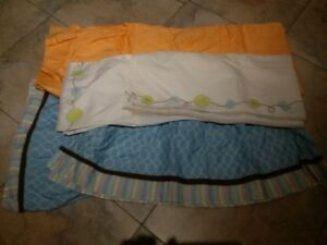 2 unisex bed skirts for standard baby crib