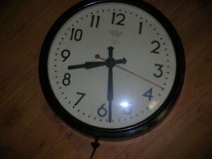 """Antique Electric Wall Clock / smiths sectric / 14 1/2"""" inches."""