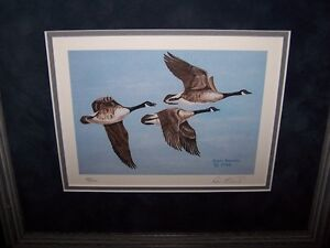 """LIMITED EDITION PRINT by DON KUNKEL """"HEADIN HOME-CANADA GEESE""""."""