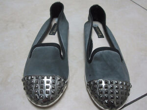 Grey Flats - Size 8 - like new