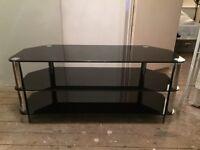 Black Glass TV Stand **BARGAIN**