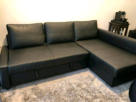 Leather ikea friheten corner sofa bed with storage local delivery