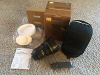 Nikon Nikkor 14-24mm f/2.8 lens mint condition - as new