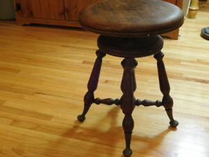 Swivel seat piano stool