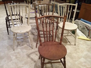 8 Wooden Chairs (Old) - REDUCED!!