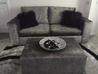 Pewter sofa and footstool