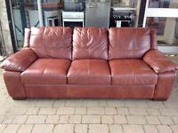 ***NEW EX DISPLAY 3 seater 100% leather sofa for SALE***