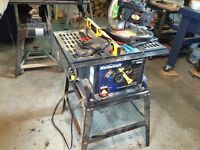 Table Saw, Chop Saw & Electric Stapler
