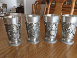Ges.gesch German Pewter Drinking Cups (set of four) Peterborough Peterborough Area image 1
