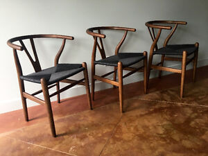 4 new, never used chairs: Hans Wenger mid century design