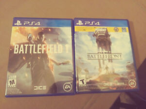 Battlefield 1 and Star Wars: Battlefront for PS4