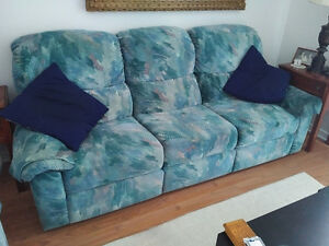 Reclining couch with built in storage!