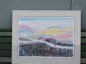 Cross-Country Skiing Limited Edition Framed Print