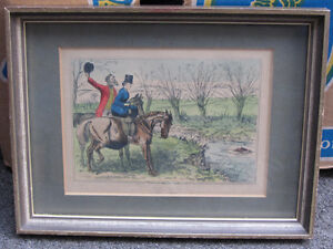 6 Framed Vintage Hunting themed Pictures London Ontario image 3