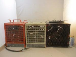 3 chaufferrettes 220 volts portatives