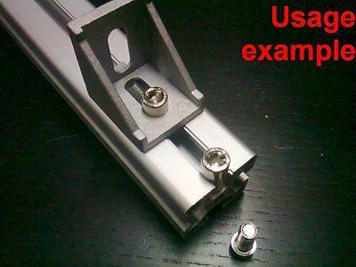 Aluminum T-slot 4040 Profile Socket Cap Bolt Screw M8x16mm 16-set