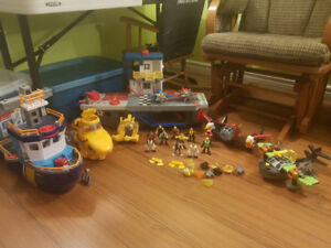 Imaginext planes and boats