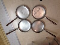 Spanish steel pans heavy very good condition