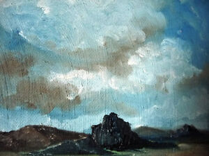 "Original Oil Painting by Graham ""Landscape Under A Cloudy Sky"" Stratford Kitchener Area image 9"