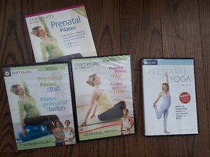 Prenatal yoga and Prenatal Pilates dvds