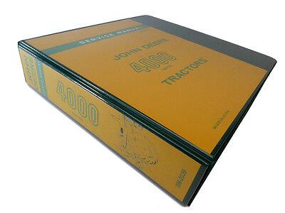 John Deere 4000 4010 4020 Tractor Technical Service Repair Manual Shop Book
