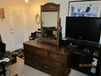 Large 7 Drawer Dresser With Matching Mirror
