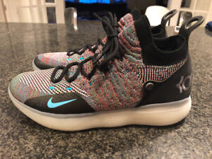 NIKE KD 11 MULTI-COLOR FLYKNIT BASKETBALL SHOES - SIZE 10 US