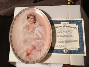 Collectible plate with authenticity papers& box Princess Diana