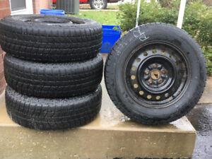 Blizzak Winter Tires on Rims-Excellent Condition (519)  433-1827