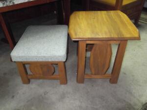 Belle table de coin en chene et banc livraison gratuite possible