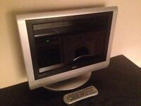 """19"""" HD widescreen LCD with Freeview + DVD"""