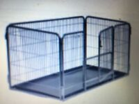 Dog whelping cage with tray