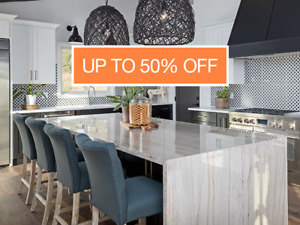 Up to 50% off on all Granite and Quartz Countertops