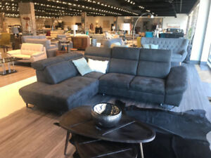 DENVER SECTIONAL – STAIN RESISTANT FABRIC – MADE IN EUROPE!