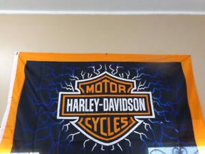 Harley Flags-full size-indoor-outdoor-  recycledgear.ca