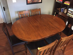 $400 OBO - Solid Wood Dining Table Set with 6 Chairs!