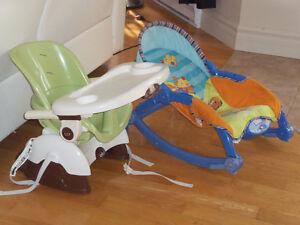 Siège de table rehausseur avec siège de repos pour bébé
