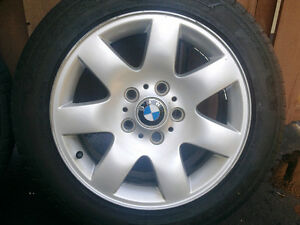 BMW E46 style 45 Mags with summer tires 205/55R16 West Island Greater Montréal image 5