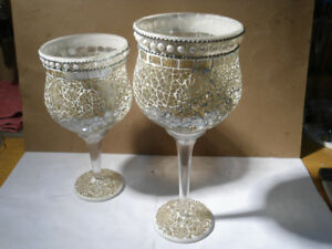 Goblets (2) candle holders
