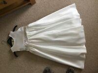 Cream bridesmaids dresses x2 ages 8 and 9 matching boleros