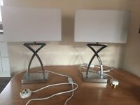 Two table / bedside lamps