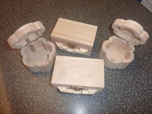 Craft items, wooden boxes, doll heads, ribbons, felting etc.